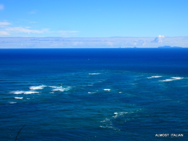 The Tasman and the Pacific oceans meet off the tip of Cape Reinga.