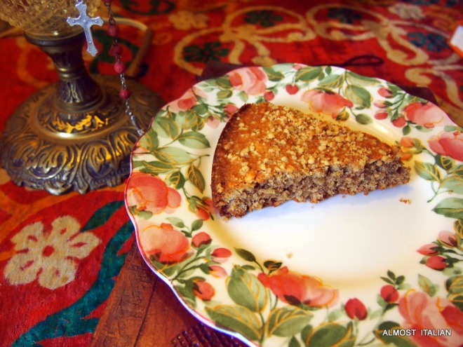 A traditional walnut cake made by the older folk in Vaireggio, Toscana