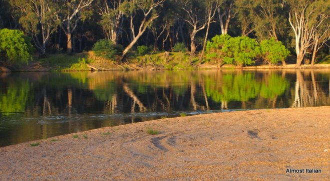 Isolated beach on the Murray River