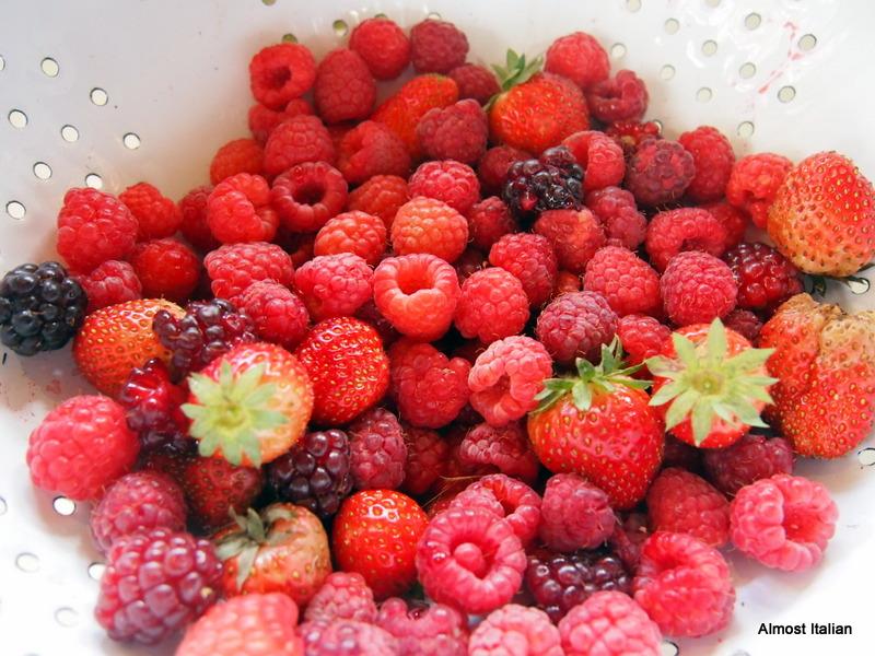 mostly raspberries