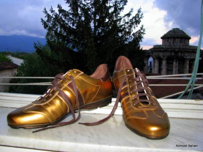 Rod's Golden shoes.