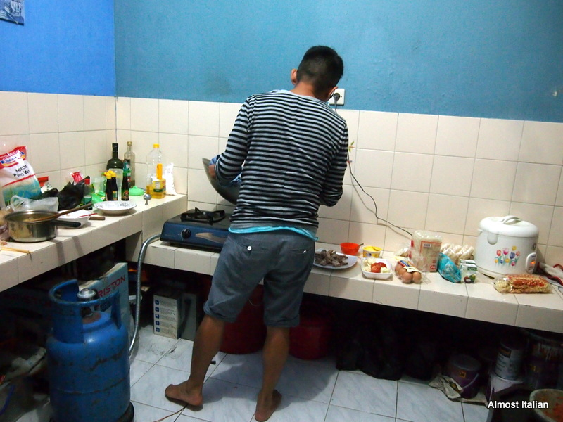 B cooks up ma storm in his Indo kitchen