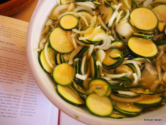 Preparing the pickle in brine.