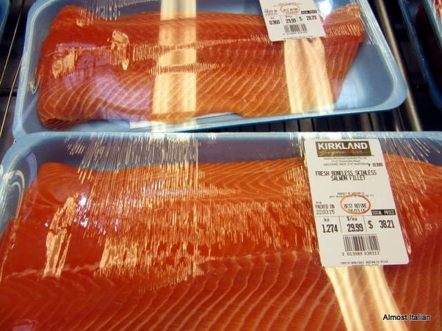 Perffect for making our own slab of gravlas. tasmanian salmon fillet.