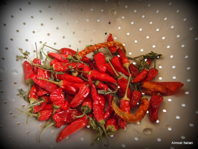 chilli drying, waitig to be crushed or turned into chlli oil.