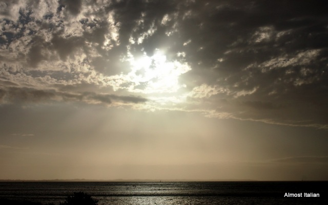 Cool sunset on Port Phillip Bay