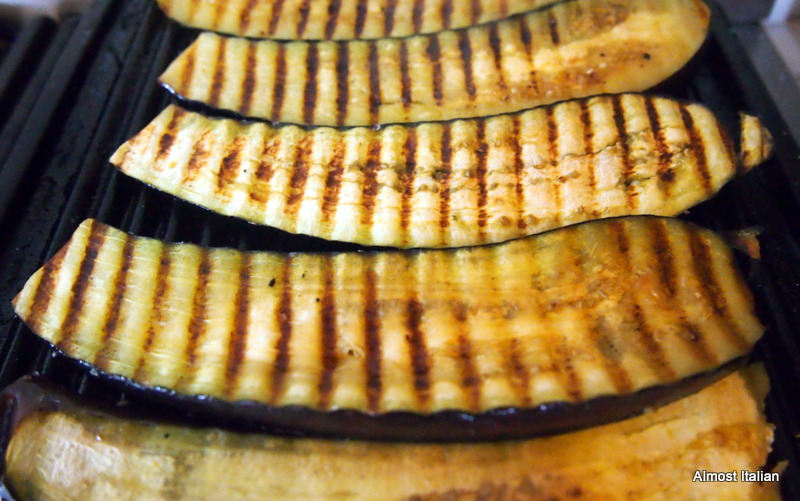 Brush the eggplant with oil and grill. Nice and easy.
