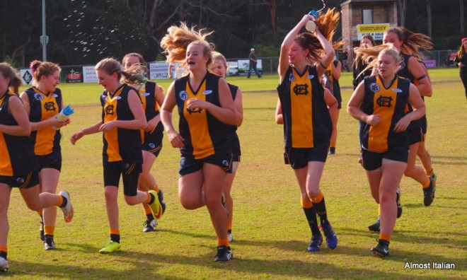 Although I don't follow football, I admire these girls who play so well for their local team, Hurstbridge.