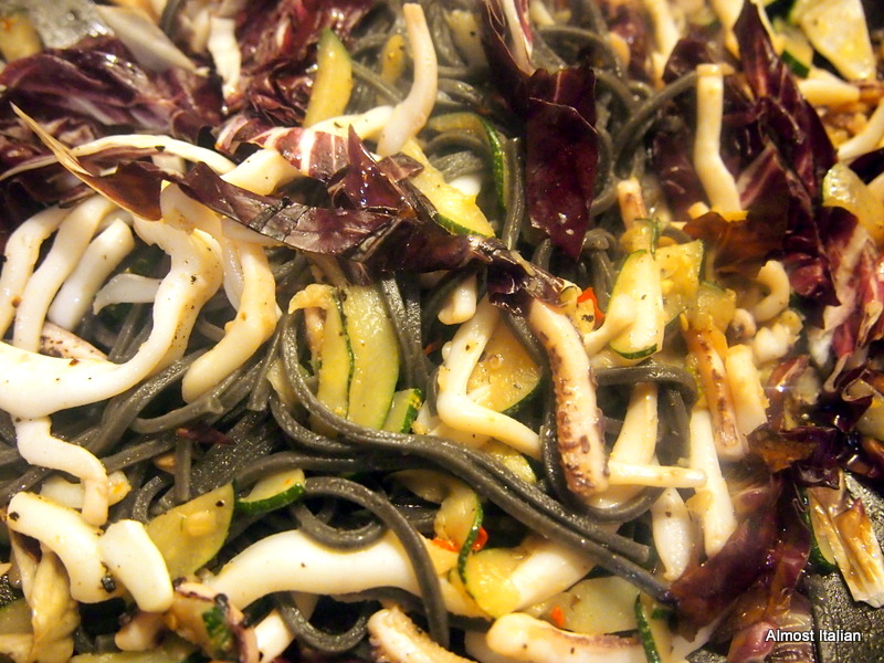 Winter Zucchini and Calamari Mescolanza
