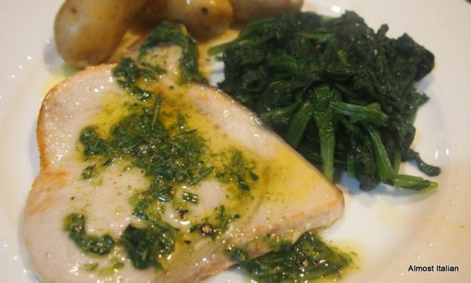 Pece Spada con Salsa di Rosmarino