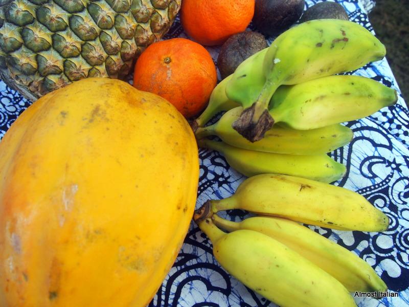 Local fruit for breakfast