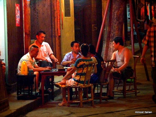 Cad players, Lijiang, Sichuan, China