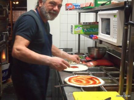 Friendly proprietor and chef, Cafe Bellino, Brunswick.