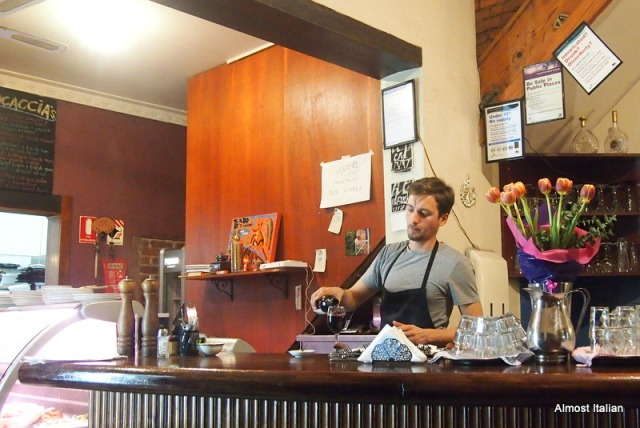 Young Italian Camerierie at Cafe Bellino, Brunswick