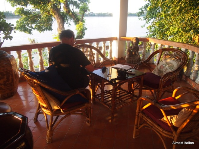 A place to write beside the Mekong.