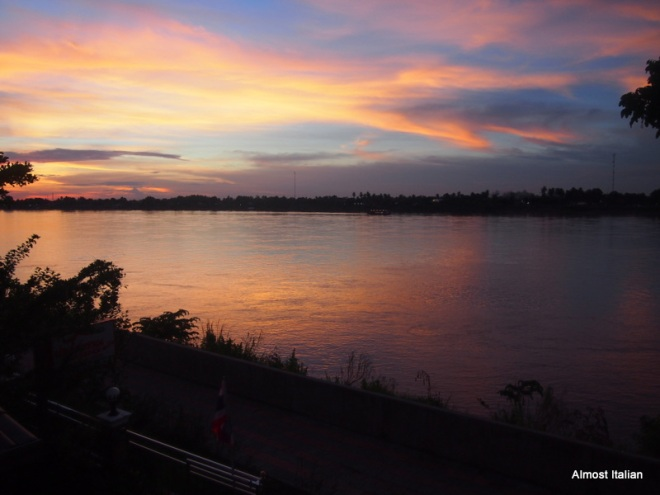 Sunset on the Mekong from Nong Khai
