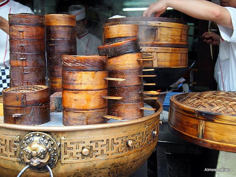 Steaming baskets, Narrow Lane, Chengdu, China