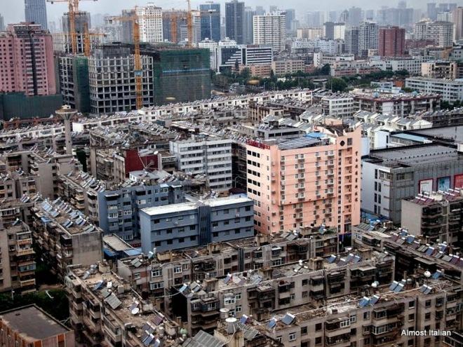 Kunming rooftops.