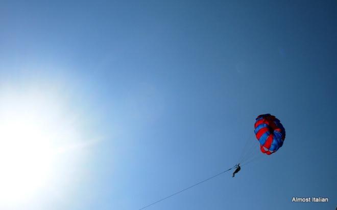 Skysurfing over Sanur, Bali