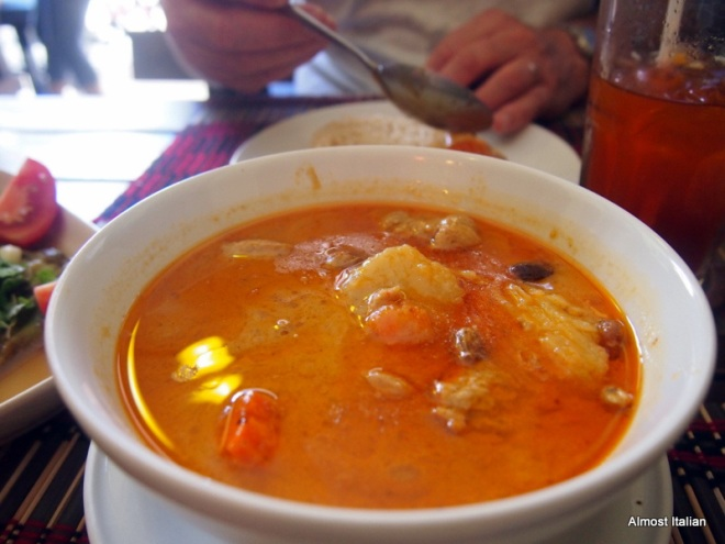 Massaman curry, complete with deep exotic middle eastern flavous.