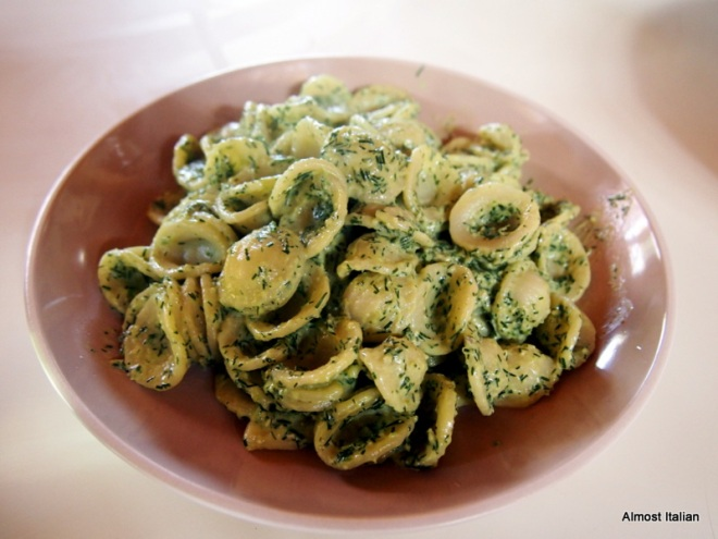 orecchiette, dill psto and
