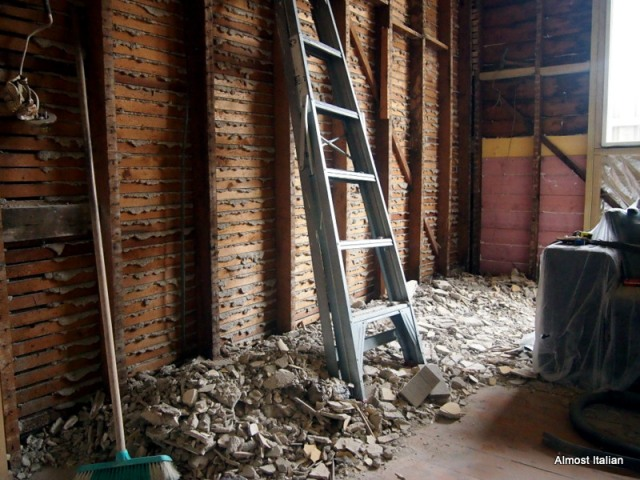 An overdue renovation. Any one fforr plaster reemoval?