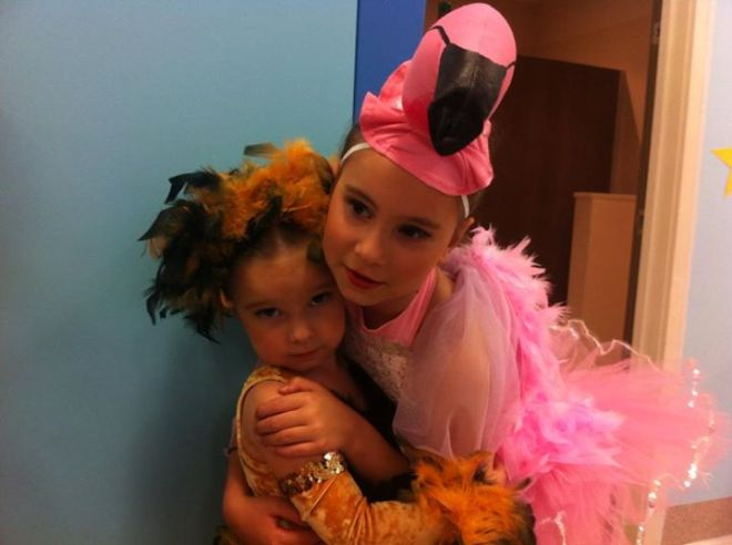Another ballet recruit. Daisy with Lottie, ballet Concert 2013.