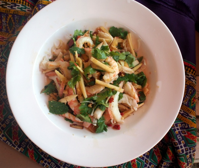 Thai prawn salad.