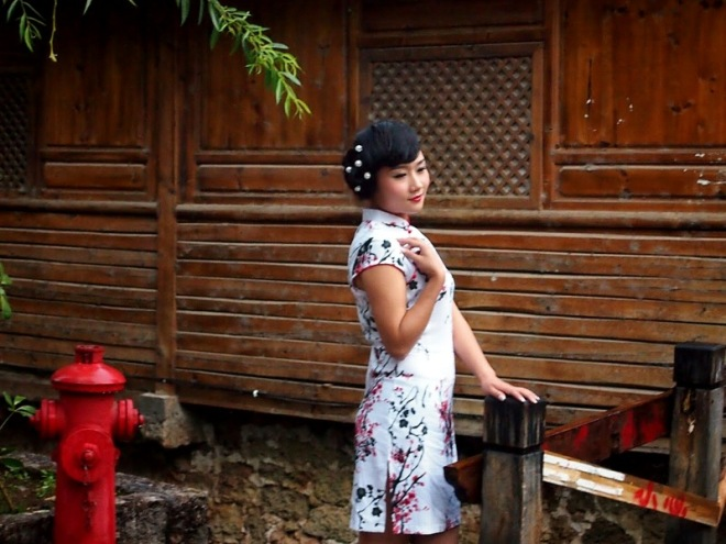 Girl on Bridge, Lijiang, Yunnan