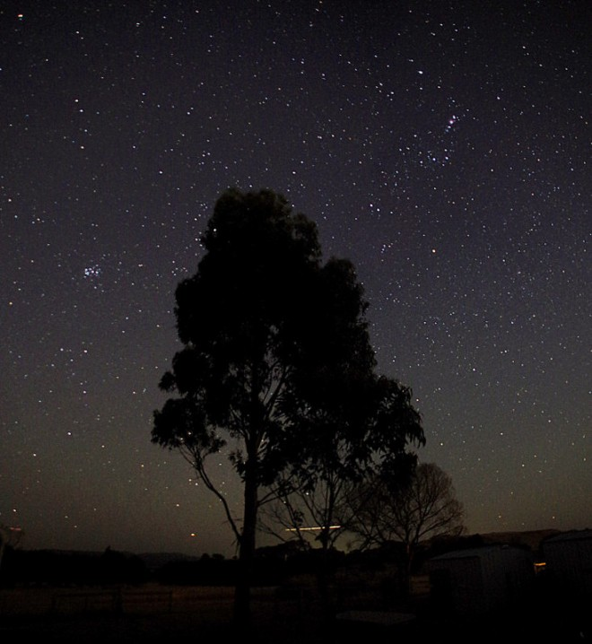 Orion and the Seven Sisters. Photo by my brother Michael, whose photos can be found at https://regionalcognisance.wordpress.com/.