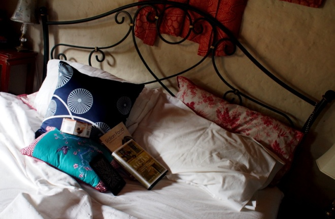 Bed, books and Chocolate