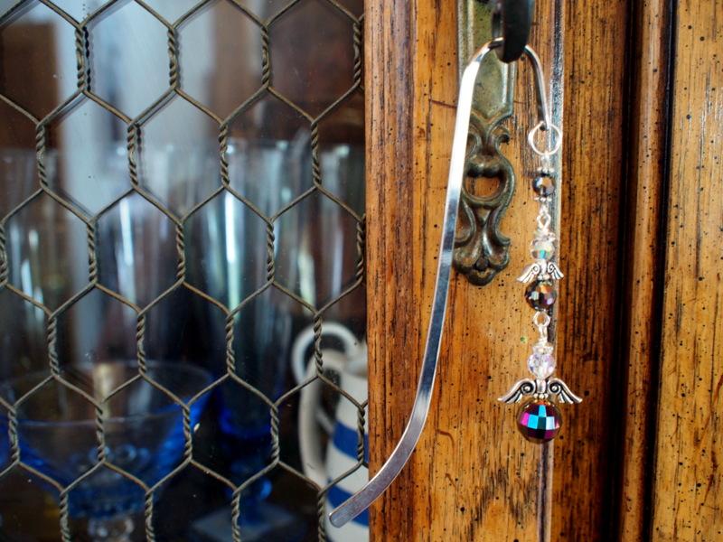 Celia's Crystal drop on Armoire door