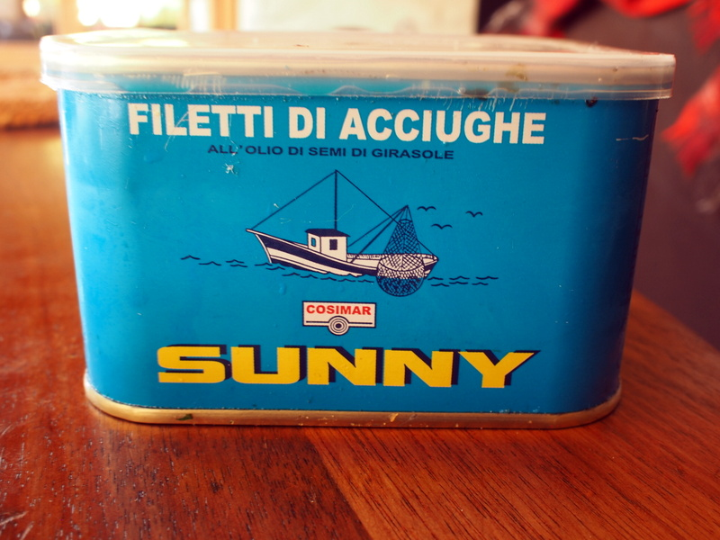 Anchovies in bulk. 750 grams. Some for the Pizza and some for Daisy, straight out of the tin.