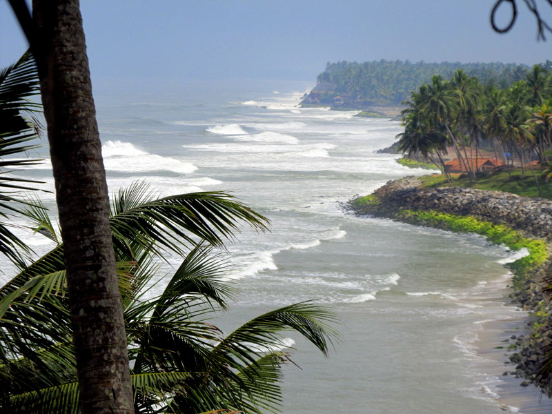 The Arabian Sea, Varkala, India