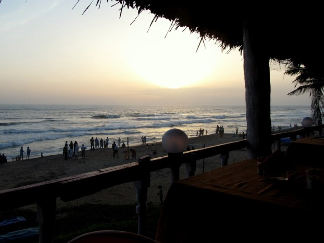 Sunset at Varkala beach.