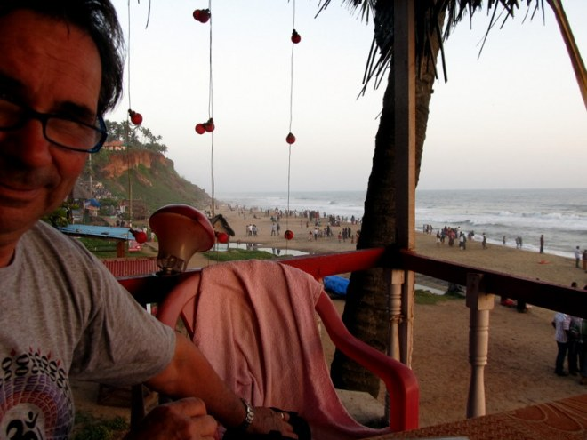 Old Hippy by the arabian Sea.