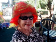 Mum, at 93, dressed up for the occoasion