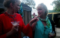 Jo, who came in her regular retro attire, with Maxine