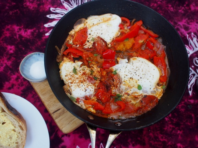 As shakshouka style breakfast