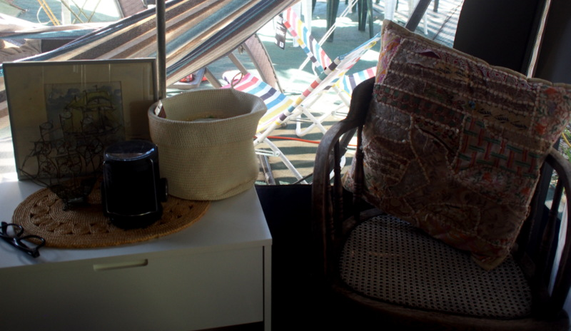 Coffee corner in Maxine's camp/glamp.