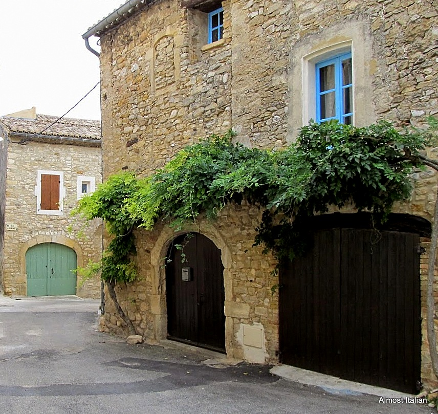 Our 17th century stone house in the village of San Michelle D'Euzet. It became the party house.