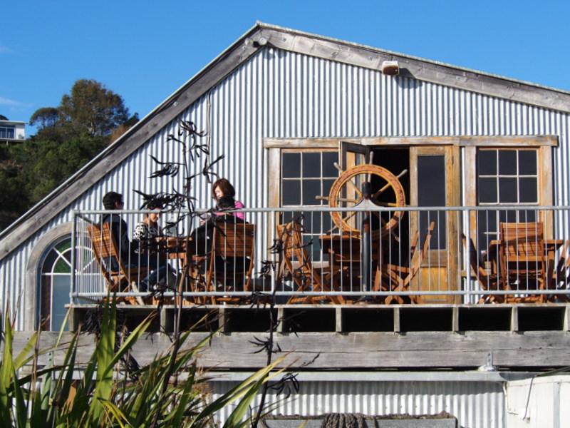 Upstairs at Fleurs Place, Moeraki, New Zealand.