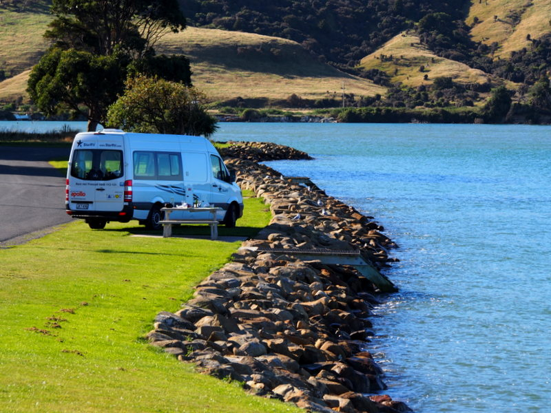 A Lunch, a wine and a snooze. Somewhere on the Southern coast of the South Island, New Zealand.