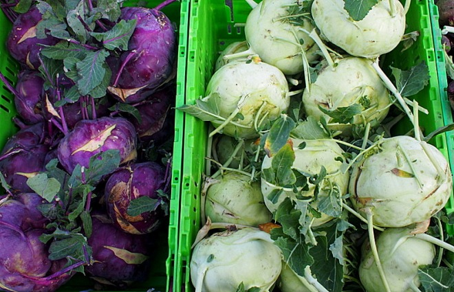 Colourful Kohlraby, Invercargill Farmers' Market
