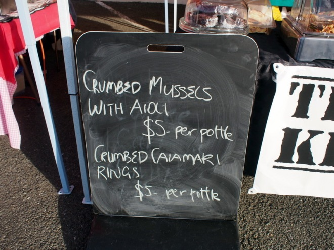 A pottle of delicious things, Invercargill Framers' Market.