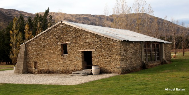 Stone shed, Peregrine wines