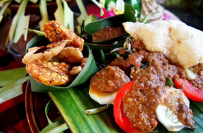 Tempeh and gado gado, Pemuteran, Northern Bali