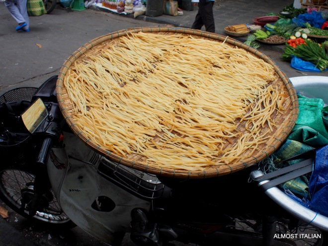 Cao lầu noodles from Hoi An. These special local noodles are made with water sourced from an ancient well on Cham Island.