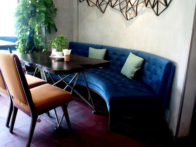 a corner table at Quan Bui