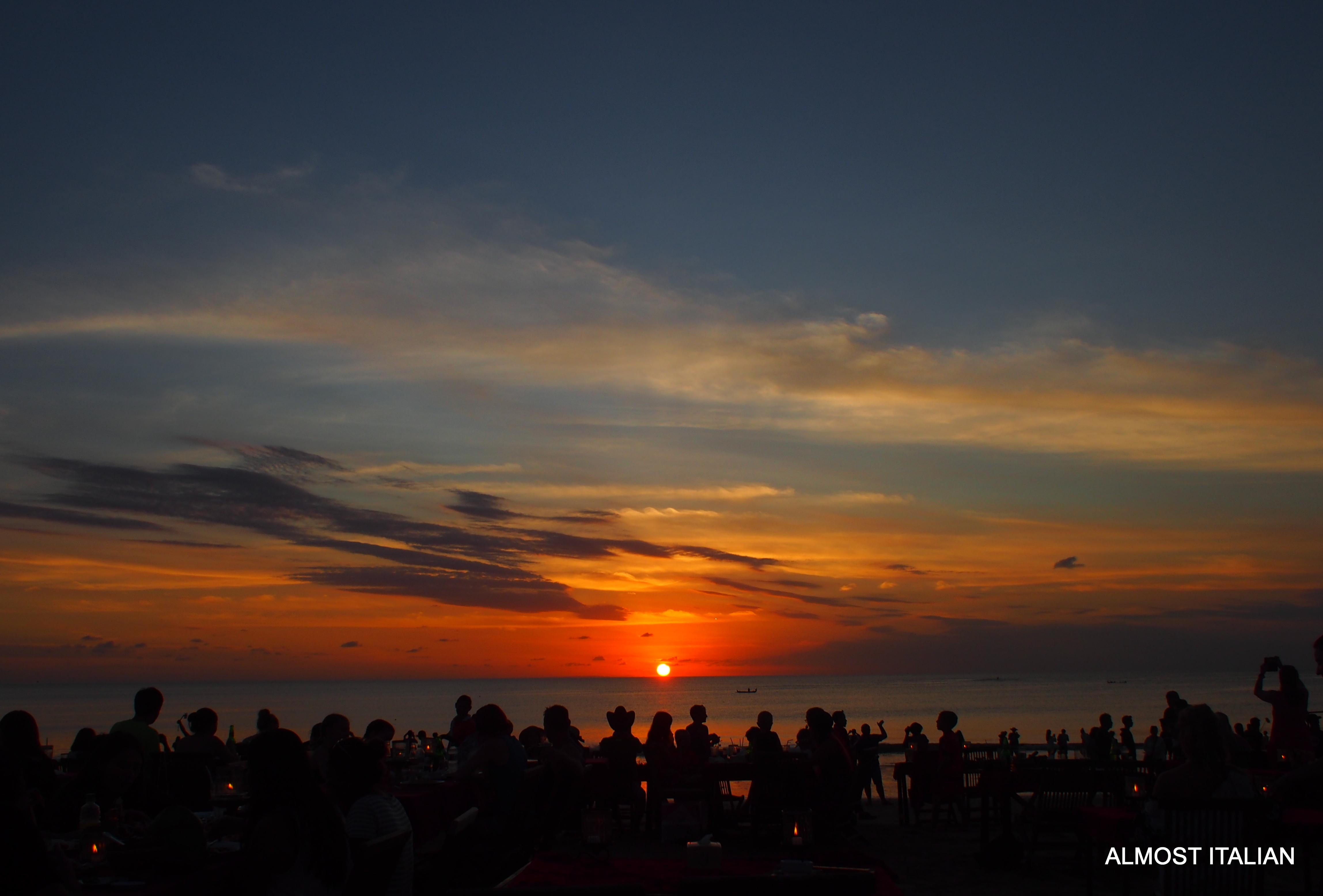 As the sun goes down over Jimbaran.....